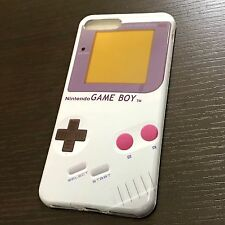 iPhone 7+ / 8+ Plus - HARD TPU RUBBER GUMMY SKIN CASE COVER GRAY GAMEBOY PLAYER