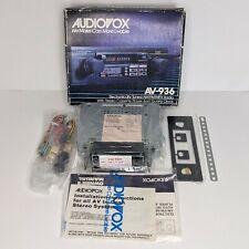 New Audiovox Av-936 Cassette Player In Dash Receiver 2 Knob Car Stereo 1988 Nos