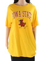 Retro Brand Women's Knit Top Yellow Size Large L Iowa State Printed $34 #755