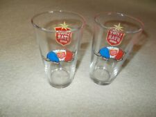 TWO LONE STAR BEER PINT GLASSES WITH RED, WHITE, BLUE ARMADILLO-NEW