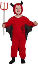 Little Red Devil Toddler Boys Halloween Fancy Dress Outfit Costume Age 3