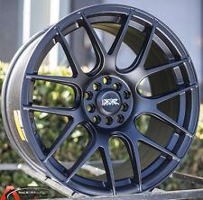 XXR 530 17X8.25 Rims 5x100/114.3 +35 Black Wheels Fits Civic Mazda 3 6 TC 2010+