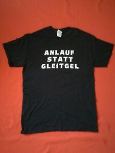 ANLAUF STATT GLEITGEL Shirt Größe L - NEU - Fun Spaß Blödsinn Sprüche