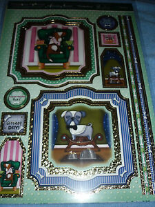 HUNKYDORY ADORABLE SCORABLE TOP DOG TOPPERS-CARDS-INSERTS-PAPER-ENVELOPES