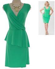 18 2X SEXY Womens GORGEOUS GREEN PEPLUM DRESS Summer Wedding Evening PLUS SIZE
