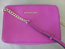 MICHAEL KORS Pink Saffiano Leather Crossbody Swingpack Purse PERFECT CONDITION!