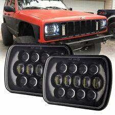 """2X 7X6"""" 5x7inch 105W LED Headlights for Chevrolet Jeep Cherokee XJ Wrangler YJ"""