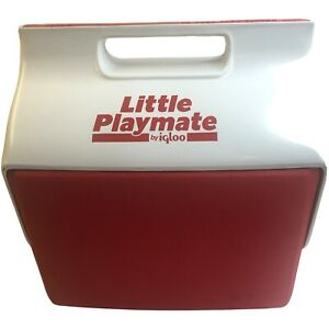 Vintage Little Playmate Cooler by Igloo | Red & White w/ Push Button