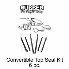 1966 1967 1968 1969 1970 Buick Cadillac Oldsmobile Convertible Top Seal Kit 6 pc