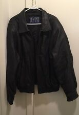 Mens Beyond Leather XL Black Leather Jacket