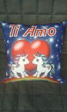 Cuscino quadrato Unicorni Ti Amo Regalo San Valentino 35x35 cm