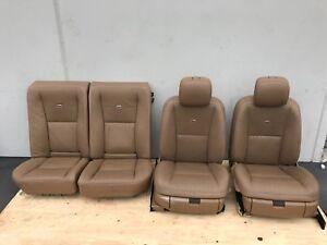 MERCEDES W221 S550 S63 S600 LEATHER DESIGNO SEAT SEATS SET FRONT REAR OEM