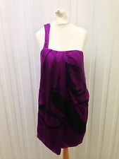 Ladies Belle by Oasis Dress - Uk12 - Silk - One Shoulder - Good Condition