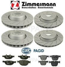 For BMW E60 M5 E63 E64 M6 Front and Rear Cross-Drilled Brake Discs & Pads KIT