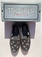 Trooper America Gray White Bandana Canvas Slippers Men Size 8