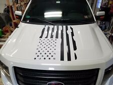 FORD F150 DISTRESSED FLAG HOOD DECAL F-150 2009-2014 CHOOSE COLOR