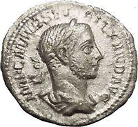 SEVERUS ALEXANDER 226AD Silver Ancient  Roman Coin ANNONA Wealth i53160