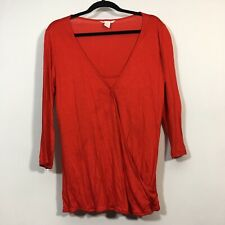 H&M MAMA Maternity Top Size Large Red Long Sleeve Blouse