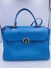 Davidoff Tasche Handtasche Hellblau Leder *LP: 1.99 EU* TOP Zustand