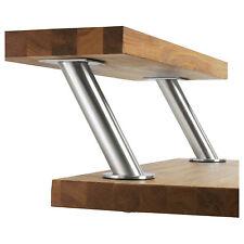 2 x IKEA CAPITA 17cm Stainless Steel Angled Worktop Brackets