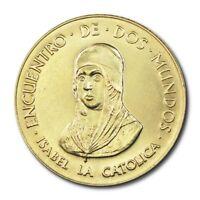 Spain 500th Anniversary New World Discovery Isabel Medal 1992 BU Encuentro De Do