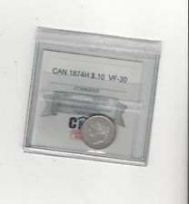 1874H , Coin Mart Graded Canadian,  10  Cent, **VF-30**