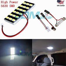 JDM ASTAR 5630 SMD White LED Panel Dome Light Lamp T10 921 BA9S Festoon Adapter