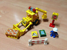Lego duplo Bob der Baumeister Baggy Baustelle Bagger Schaufelbagger +Arbeiter
