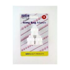 Pme lot de 3 icing adaptateur coupleur pâtisserie piping bags tubes buses sugarcraft gâteau