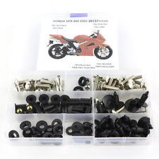 For Honda VFR800 2002-2013 2011 2012 Fairing Bolt Kit Bodywork Screws Silver