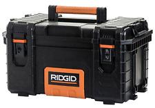 Ridgid Pro Tool Box Portable Storage 22 In. Heavy Duty Lightweight Locking Black