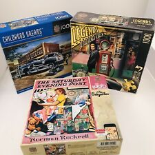 Lot 3 MASTER PIECES 1000 PC PUZZLES CHILDHOOD DREAMS Legends Silver Screen