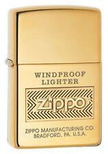 Zippo 28145 Windproof High Polish Brass Finish Lighter