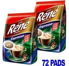 Philips senseo 72 x Caffè Rene Cremé Espresso Arrostire Pastiglie Capsule Borse