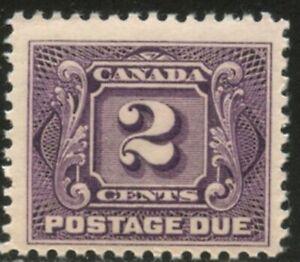 CANADA Sc#J2 1906 2c Postage Due Stamp OG Mint LH