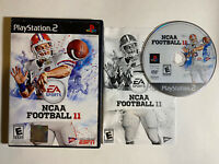 NCAA Football 11 (Sony PlayStation 2 PS2, 2010) COMPLETE CIB Tested Works