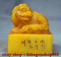 """3,6 """"Naturel tianhuang shoushan pierre pixiu bête textes sceau cachet cachet"""