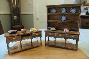 DRESSER AND SIDEBOARD FOR DOLLS' HOUSE SUIT KITCHEN OR DINING ROOM 1:12 SCALE