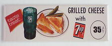 7 Up & Grilled Cheese Sandwich FRIDGE MAGNET (1.5 x 4.5 inches) soda sign