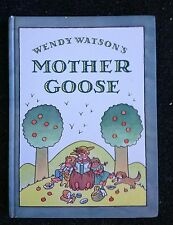 Wendy Watson's Mother Goose Hardcover Book Nursery Rhymes Free Shipping in US