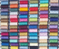 75 Spools  OF ALL PURPOSE POLYESTER THREAD, 75 different Colors, best quality