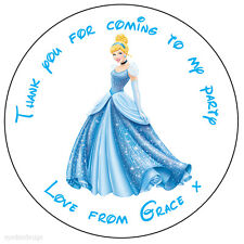 35x Personalised Cinderella 37mm Stickers Labels Party Thank You Seals -ref 159