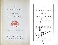 Siddhartha Mukherjee~SIGNED~Emperor of All Maladies~1st/1st~2011 Pulitzer+Photos