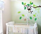 Swing monkey Tree Branch Art Removable Vinyl Wall Stickers kids Nursery Decor