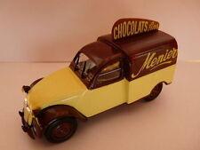 2CV28E Voiture 1/43 norev citroën : 2 CV n°114 AU chocolats MENIER 1953