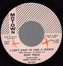 MARY WELLS I Don't Want To Take A Chance pink lbl issue copy Motown SOUL 45 NM-