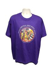 2008 16th Annual Capital Jazz Fest Adult Purple Xl Tshirt