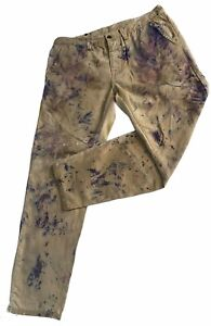 Hand Painted GAP Toland 1969 Work Pants Size 34 -measures 36 x 29.5 Distressed