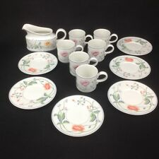 VILLEROY AND BOCH ALBERTINA cups and saucers, creamer / gravy boat