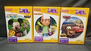 Lot 3x Fischer Price IXL Learning System Handy Manny Micky Mouse ClubHouse Cars